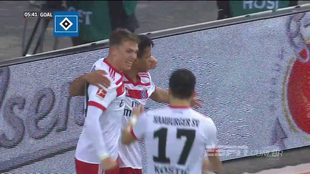 Ex-Atlético-MG dá 'assistência', e Hamburgo faz três no Hoffenheim pela Bundesliga