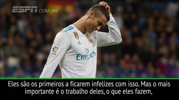 Zidane defende Cristiano Ronaldo e Benzema por seca de gols no Espanhol: 'Vamos manter a calma'