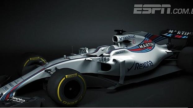 Williams revela primeiras imagens do carro de 2017