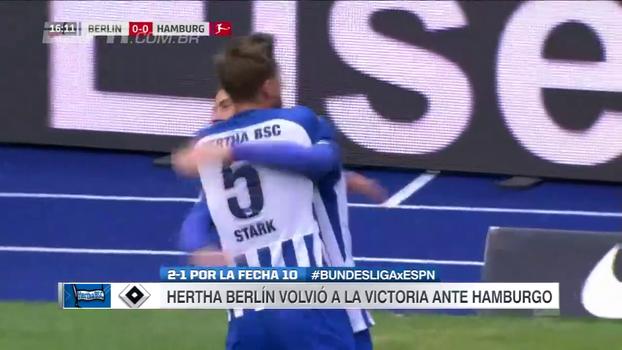 Hertha Berlin bate Hamburgo, encerra jejum após quatro jogos sem vencer e chega à 10ª posição
