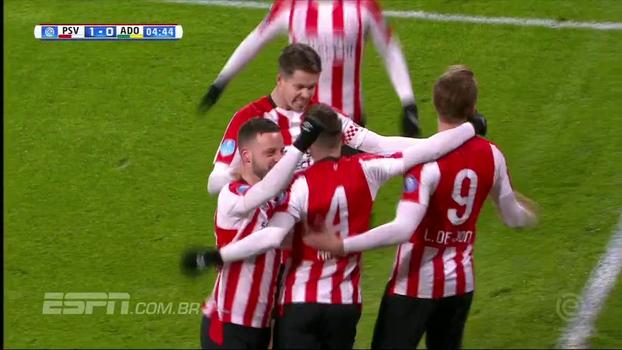 Assista aos gols da vitória do PSV sobre o ADO Den Haag por 3 a 0!