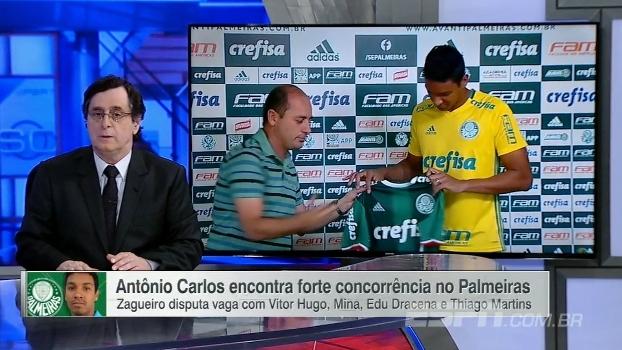 Antero analisa chegada do zagueiro Antônio Carlos   Palmeiras está  atirando. Às vezes 0ae1803240df3