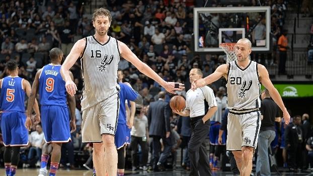 Em casa, San Antonio Spurs vence o New York Knicks por 106 a 98