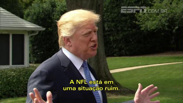 Trump volta a detonar NFL: 'Se não mudar, vai para o inferno'