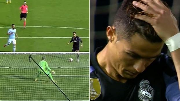 Errou! Cristiano Ronaldo recebe sozinho na área, escolhe o canto e perde chance incrível de fazer ha