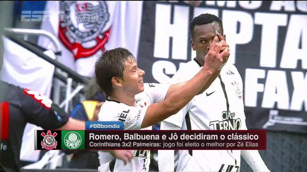 Zé Elias elege gol mais marcante e vê clássico como melhor jogo do Brasileiro 2017: 'Carimbou o trabalho do Carille'