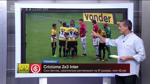 Sálvio explica mudança na regra, discorda de cartão e aponta pênalti em Criciúma x Inter