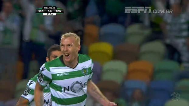 Assista aos gols da vitória do Sporting sobre o Tondela por 2 a 0!2