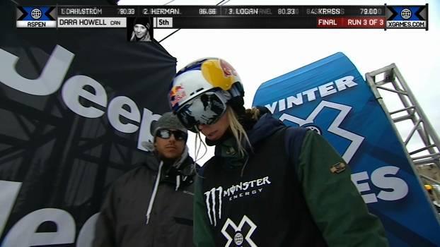 A medalha de Bronze de Dara Howell no Ski Slopestyle Feminino
