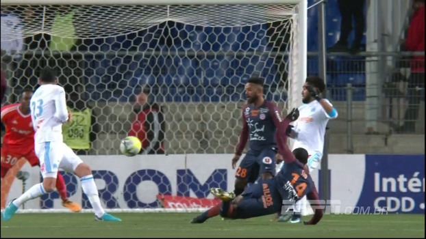 Montpellier abre em bela finalização, mas Olympique empata com pênalti muito polêmico