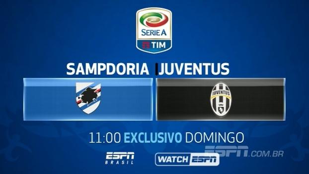 Sampdoria x Juventus: veja neste domingo, 11h, na ESPN Brasil e no WatchESPN