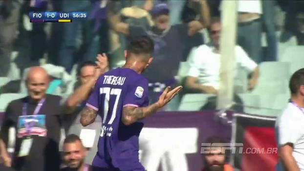 Cyril Thereau aciona 'lei do ex', faz dois e garante vitória da Fiorentina sobre Udinese