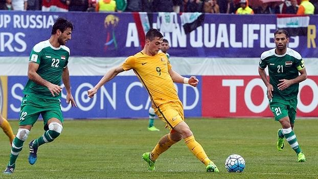 Veja os gols do empate entre Iraque e Austrália por 1 a 1