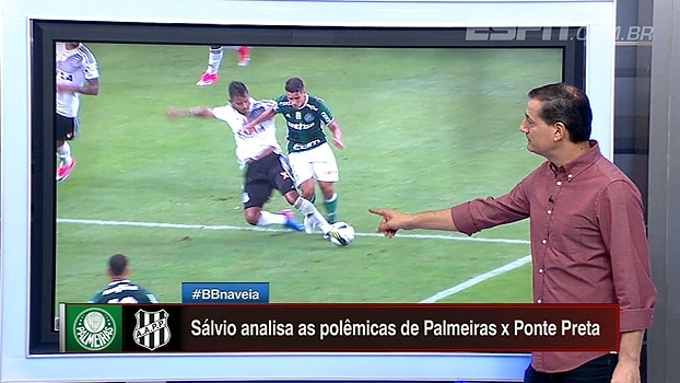 Pedidos de pênalti e impedimentos: Sálvio analisa lances de Palmeiras x Ponte Preta