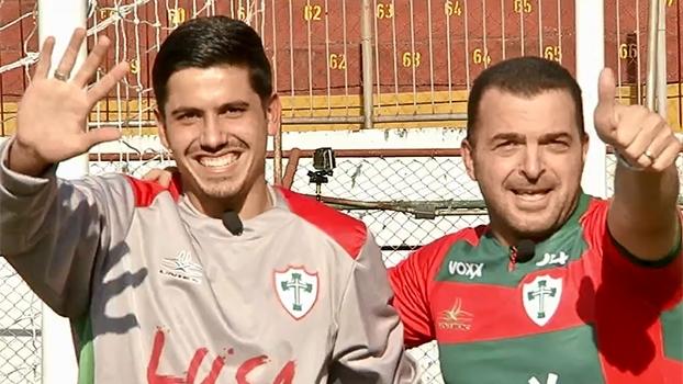 Futebol de BaZé: goleiro e estudante universitário, Iago quer reerguer a Portuguesa