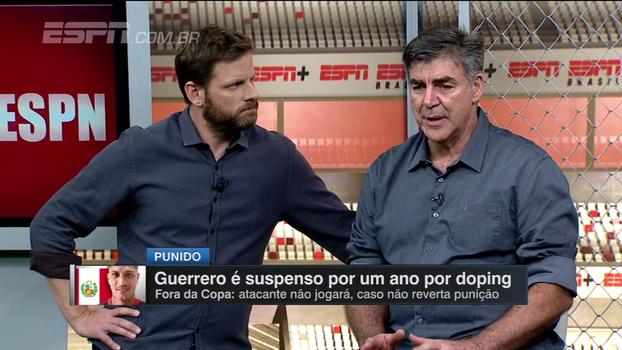 Comentaristas do Resenha ESPN comentam punição a Guerrero por doping; Zetti relembra caso pessoal
