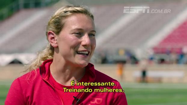 Ela joga de linebacker contra homens e é técnica: conheça a mulher que faz estágio nos Bills