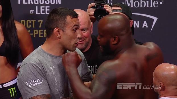 UFC 216: Fabricio Werdum mostra recado em celular e discute com Derrick Lewis durante encarada