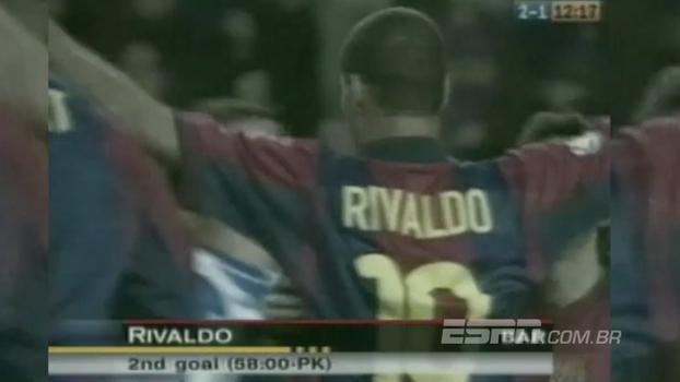 Golaço de Luis Enrique, dois de Rivaldo e um de Xavi: em 2000, Barcelona venceu dérbi contra Espanyol