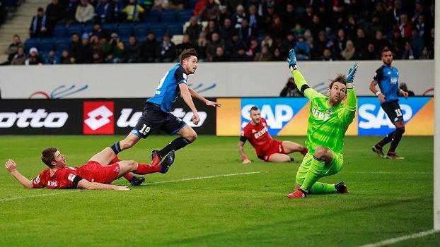 Hoffenheim goleia Colonia e segue na briga pela Champions