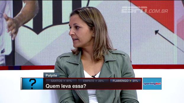 Juliana Cabral analisa Santos x Flamengo: 'Jogo extremamente difícil de ser revertido'