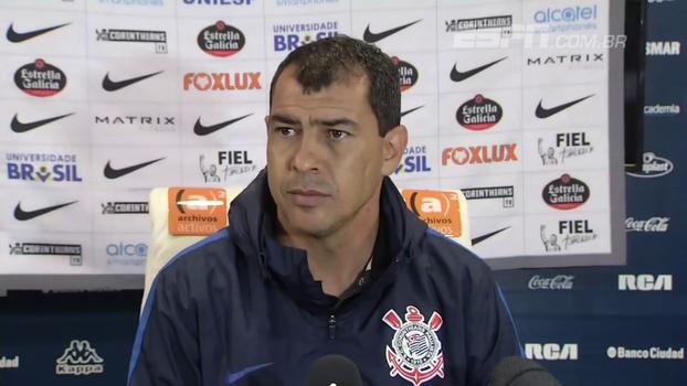 Carille diz levar a Copa Sul-Americana muito a sério: 'É o único título que falta ao Corinthians'