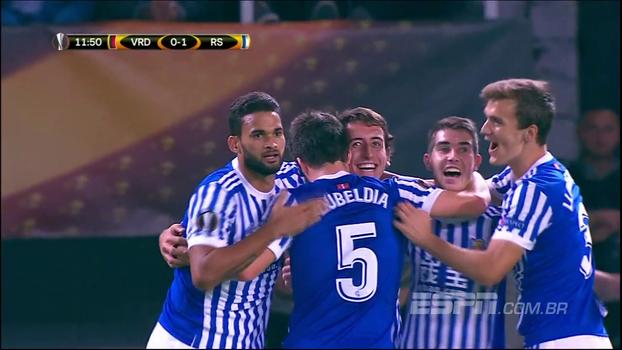 Europa League: Melhores momentos de Vardar Skopje 0 x 6 Real Sociedad
