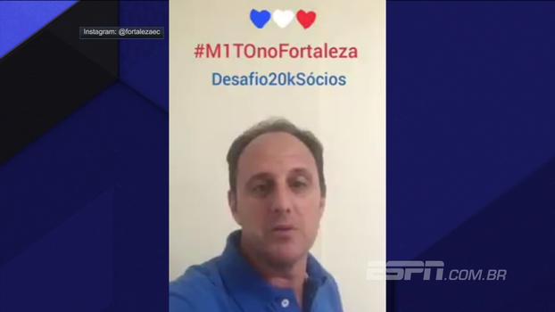 Rogério Ceni agradece carinho da torcida do Fortaleza, se diz honrado e desafia a torcedores com meta