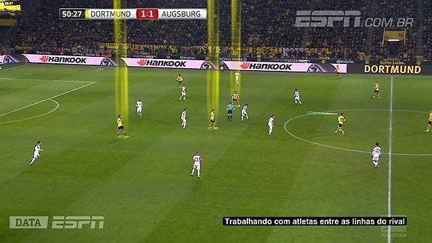 DataESPN mostra como o Borussia Dortmund tentou 'furar' retranca do Augsburg
