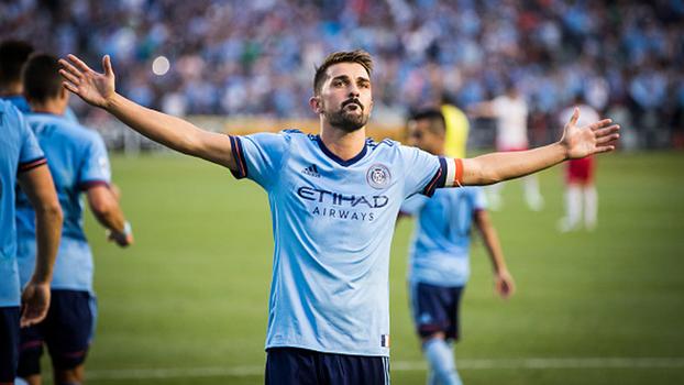 David Villa faz 'hat-trick', supera dois gols de Wright-Phillips e NYCFC vence derby de Nova York