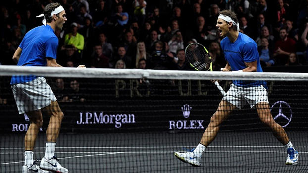Dupla dos sonhos! Veja os melhores momentos da vitória de Federer e Nadal sobre Querrey e Sock