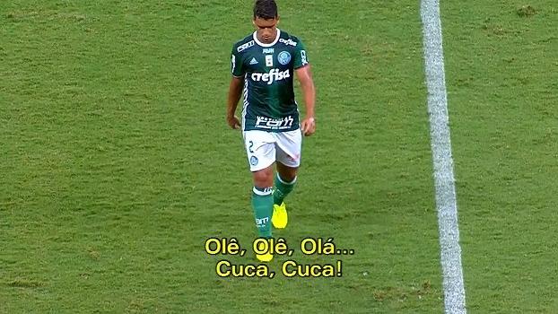 Torcida organizada do Palmeiras canta 'olê, olê, olá... Cuca, Cuca' durante jogo