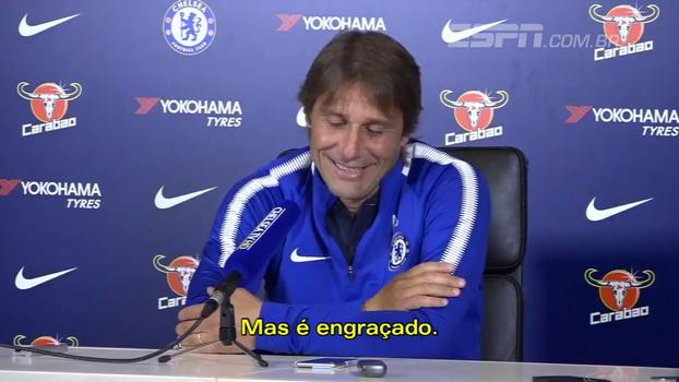 Veja gargalhada de Conte ao ouvir que Diego Costa disse ser tratado como 'criminoso'
