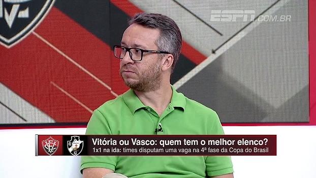 Maurício Barros: 'Vasco entra em campo hoje, com o Vitória como favorito'