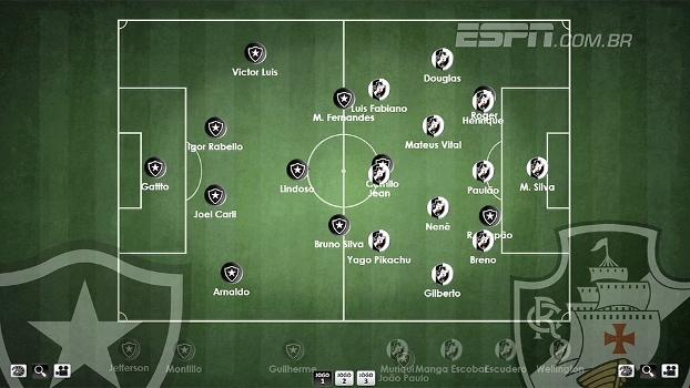 Alê Oliveira e Bertozzi escalam Botafogo e Vasco pela 9ª rodada do Brasileiro