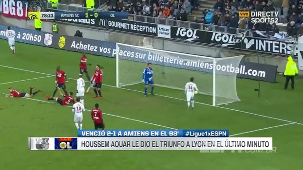 Jovem de 19 anos faz dois gols, Lyon vira sobre Amiens no fim e segue na vice-liderança do Francês