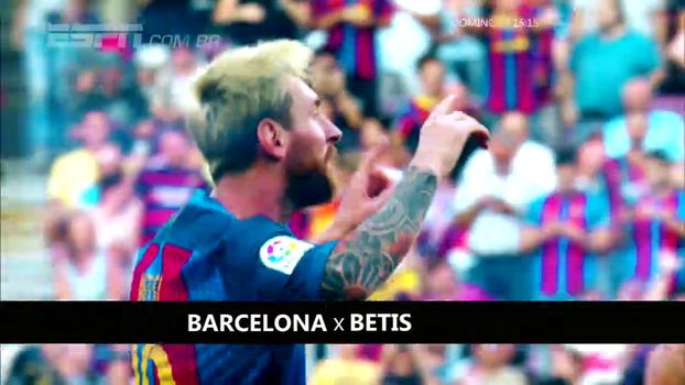 No domingo, não perca Barcelona x Bétis, às 15h15, EXCLUSIVO na ESPN e WatchESPN