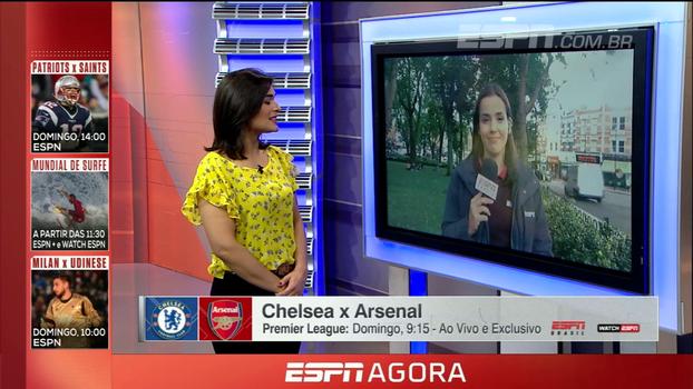 Natalie Gedra analisa Chelsea e Arsenal antes de clássico londrino: 'Podemos ter Sánchez e Lacazette juntos'