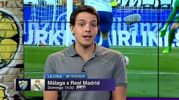 Para Rafa Oliveira, Real Madrid deve ser campeão, mas não será fácil: 'Málaga cresceu muito'