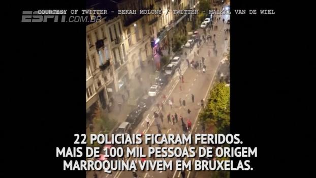 Comemorando vaga na Copa, marroquinos entram em confronto com polícia belga