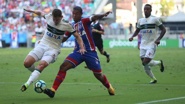 Brasileiro: Gols de Bahia 1 x 1 Coritiba