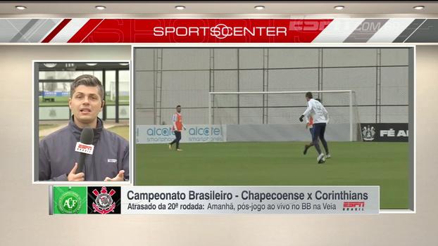 Flávio Ortega traz as notícias do último treino do Corinthians antes de enfrentar a Chapecoense