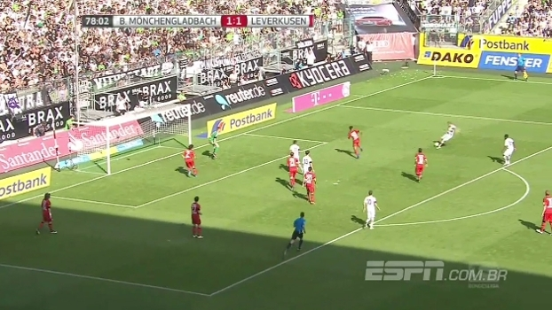 No duelo entre terceiro e quarto colocado do Alemão, o Mönchengladbach vence o Leverkusen