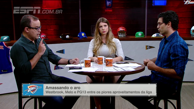 Paulo Antunes e Alana Ambrósio discutem trio do Thunder e analisam má fase do time