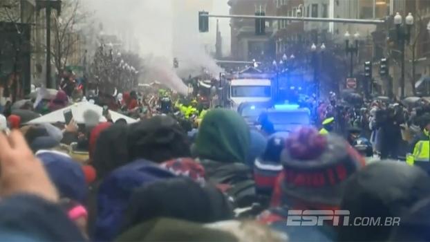 Veja imagens do desfile de campeão do New England Patriots pelas ruas de Boston