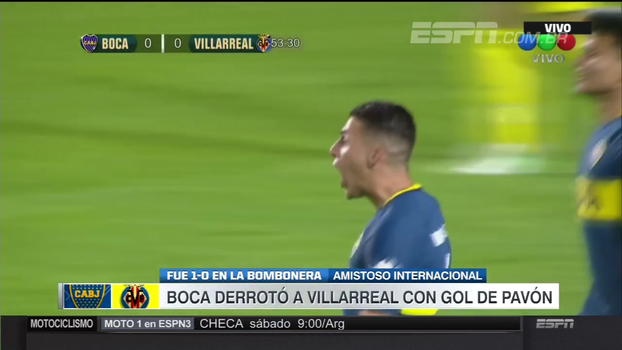Com gol de Pavón, Boca Juniors vence Villarreal em amistoso na Bombonera