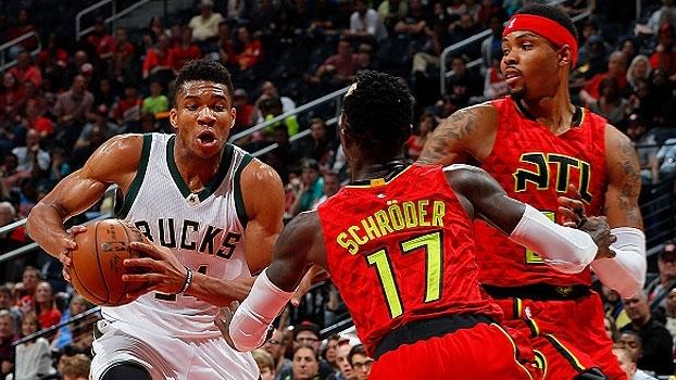 Grego faz outra partidaça, mas os Hawks vencem os Bucks em Atlanta