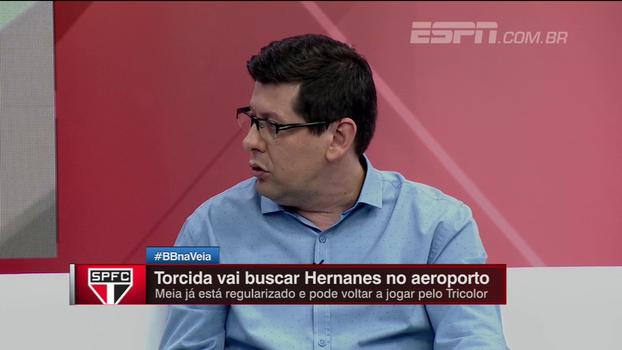 Unzelte vê Hernanes contribuindo muito no São Paulo, mas avalia: 'Talvez tenha se assustado com a carência do torcedor'