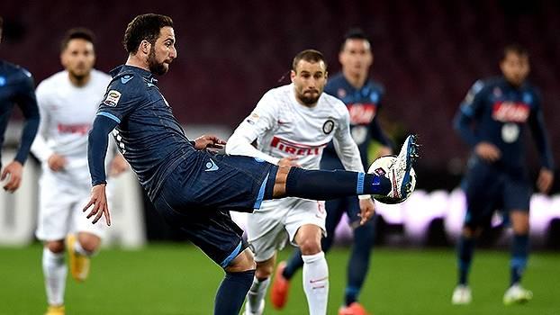 Assista aos gols do empate entre Napoli e Inter de Milão