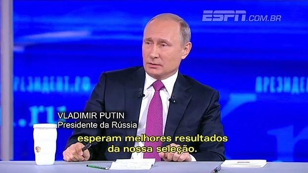 Torcedor faz pedido para Putin incentivar seleção e presidente da Rússia responde com categoria